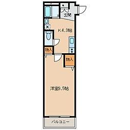 東京都墨田区業平5丁目の賃貸マンションの間取り