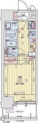 レオンヴァリエ大阪ベイシティ[905号室]の間取り