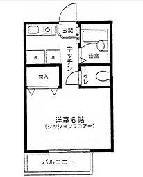 東京都大田区久が原4丁目の賃貸アパートの間取り