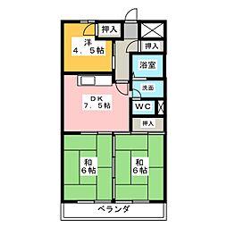 2清邦ビル[3階]の間取り