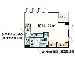 BLANC北堀江[5階]の間取り
