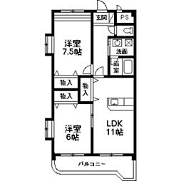 NNMマンションA[2階]の間取り