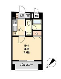 東京都中央区日本橋浜町3丁目の賃貸マンションの間取り