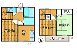[テラスハウス] 神奈川県相模原市中央区東淵野辺3丁目 の賃貸【/】の間取り
