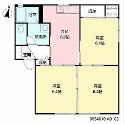福岡県福岡市早良区有田4丁目の賃貸アパートの間取り