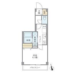 京急本線 雑色駅 徒歩2分の賃貸マンション 2階1Kの間取り