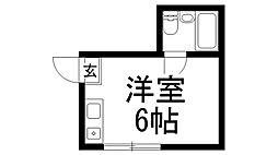 八坂ハイツ[0202号室]の間取り