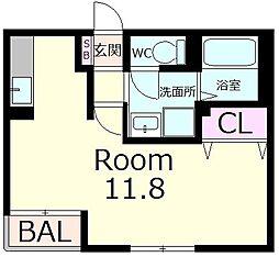 シャトレー六番館[2階]の間取り