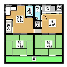 [一戸建] 岐阜県大垣市見取町2丁目 の賃貸【/】の間取り