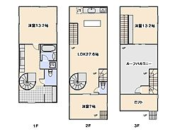 [一戸建] 広島県広島市佐伯区三筋3丁目 の賃貸【/】の間取り