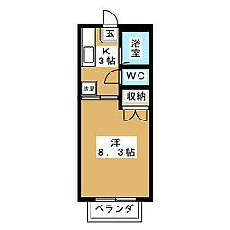 コンテッサ中山台[2階]の間取り