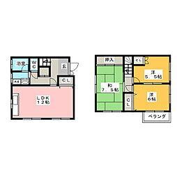 [テラスハウス] 愛知県一宮市西五城字杁先南 の賃貸【/】の間取り