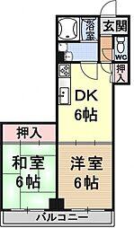 ソシオ東亜[402号室号室]の間取り