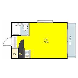 西岩田ハイツ[3階]の間取り