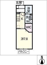 グローリーフォレスト A棟[1階]の間取り