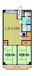 内田マンション[2階]の間取り