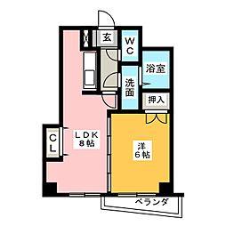 第3タジックビル[2階]の間取り