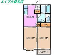 ロイヤルロジュメント[2階]の間取り