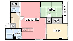甲子園第2松並ハイツ[305号室]の間取り