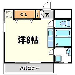 兵庫県尼崎市西難波町5丁目の賃貸アパートの間取り