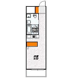 G-Design京都西院[3階]の間取り