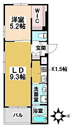 愛知県名古屋市瑞穂区内方町2丁目の賃貸マンションの間取り