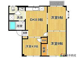 シティハイツ井田A棟[2階]の間取り