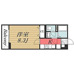 千葉県千葉市美浜区真砂1丁目の賃貸アパートの間取り