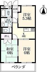 シャトレ鍋島 3[3103号室]の間取り