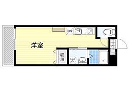 AMOTIS-K 3階ワンルームの間取り