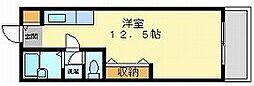 岡山県岡山市北区下伊福西町の賃貸アパートの間取り