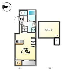 casa felice長田[2階]の間取り