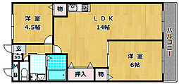 レオハイム津田II[4階]の間取り