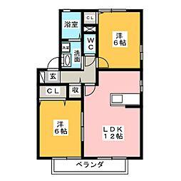 ウィルモア栄和C棟[2階]の間取り