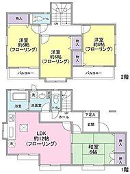 [一戸建] 埼玉県越谷市袋山 の賃貸【/】の間取り