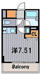 神奈川県横浜市港北区菊名4丁目の賃貸マンションの間取り