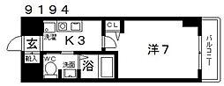 casa vera luce(カサベラルーチェ)[306号室号室]の間取り