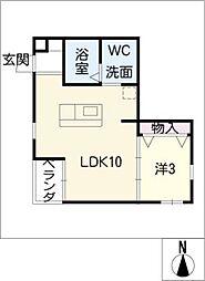 翔Minokamo 3階1LDKの間取り