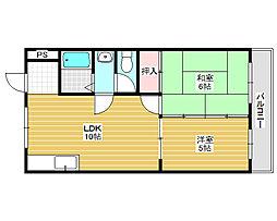 プレオール堺東[3階]の間取り