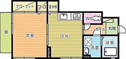 コンフォート秋桜[101号室]の間取り