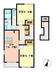 オリオン[2階]の間取り