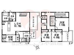 堺市東区菩提町2丁戸建 1階4SLDKの間取り