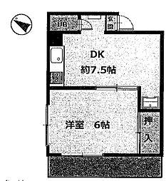 アイランドフラット1[1階]の外観
