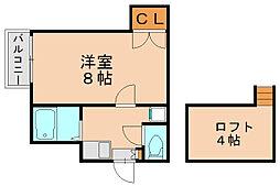 サンライズガーデン博多Ⅱ[1階]の間取り