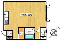 メゾンIMAI[2-D号室]の間取り