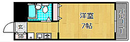 大阪府枚方市長尾家具町5丁目の賃貸マンションの間取り