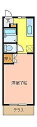 ソレイユ杉田[105号室]の間取り