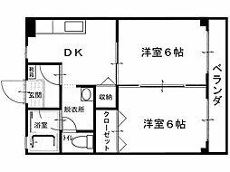 ラポート観音寺[2階]の間取り