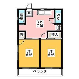 ハイツ奥村[2階]の間取り