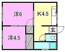 平岡ビル[303 号室号室]の間取り